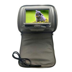 Lecteur de DVD, écran 7 Pouces, écran Infrarouge pour appuie-tête de Voiture, Lecteur DVD pour appuie-tête de Voiture, Fermeture Éclair, Support IR/USB/SD/Haut-Parleur/Jeu/FM, N° 0, Gris, Free Size