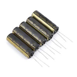 LLAni Lot de 5 condensateurs électrolytiques en aluminium 450 V 47 UF pour TV LCD LED 13 x 42 mm