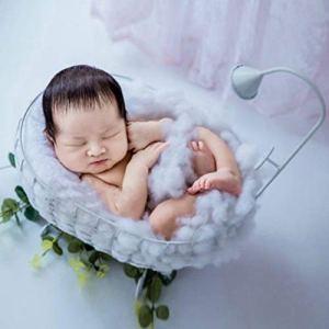 LZDseller01 Accessoire Photo pour Nouveau-né, Accessoires de Baignoire pour Photographie de bébé, Photographie de bébé en Fer forgé, Pas de zéro, Blanc, Taille Unique