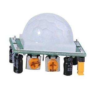 MachinYesell HC-SR501 Ajuster Pyroélectrique IR PIR Infrarouge Réfléchissant Motion Body Sensor Module Board Détection Humaine pour Arduino DIY (Couleur: Bleu)