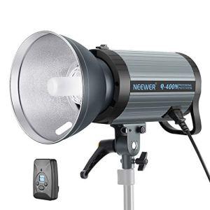Neewer Flash Studio 400W GN65 Torche Lumière Strobe avec Déclencheur sans Fil 2,4G et Lampe de Pilote, Recyclage à 0,01-0,5 Sec, Monture Bowens pour Photo Portrait Studio Intérieur (Q400N)
