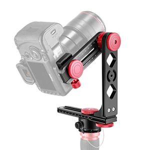 Neewer Tête de Trépied Support Gimbal Panoramique Alliage Aluminium avec Plaque Rapide 1/4 Pouce Arca-Swiss Standard et Etui,Charge Admissible 10kg Compatible avec DSLR Nikon Canon Sony