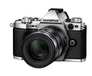 Olympus E-M5 Mark II Appareil photo hybride Ecran LCD 3″ (7,62 cm) 16,1 Mpix Argent + Objectif 12-50 mm