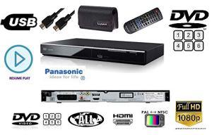 Panasonic DVDS700 Lecteur DVD/CD multirégion 1080p Upscaler avec HDMI