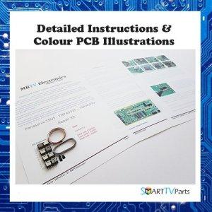 PANASONIC TX-P42G30 / TX-P42GT30 YSUS Kit de réparation – TNPA5330 – (4, 5 ou 7 Flashes)
