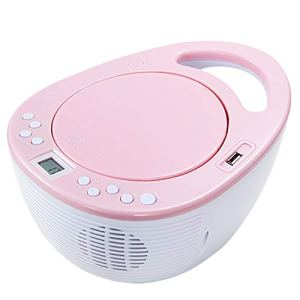 Portable CD, MP3 U Disque Étudiant Apprentissage fœtal Joueur Education, Soutien Président Mp3 Disc prénatal Machine éducation,Rose