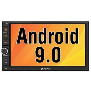 Pumpkin Android 9.0 Autoradio 2 Din GPS supporte Bluetooth 3G WiFi USB SD RDS Radio Commande au Volant OBD2 avec Ecran 7 Pouce