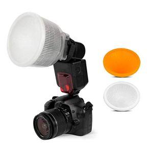 SHOOT Lambency Diffuseur de flash pour Canon 420EX 430EX 550EX 580EX 580EX II 600EX Nikon SB600 SB700 SB800 SB900 SB910 Sony HVL-F42AM HVL-F43AM