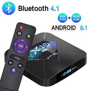 SUMGOTT TV Box Bluetooth 4.0【4G+64G】 Amlogic S905X2 Quad-Core Cortex-A53 CPU 2GB Box Android TV Wi-FI 2.4G/5.8G/avec HD/H.265 / 4K / 3D / BT4.1 [2019 Dernière Version]