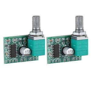 Tonysa 2Pcs Mini 2 * 3W 5V Module d'amplificateur de Puissance numérique, Carte de Module d'amplificateur Audio Durable de Haute qualité pour PAM8403