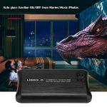 Tosuny Lecteur multimédia, Full HD HDMI 1080p Lecteur multimédia Multi USB3.0 Lecteur Audio/vidéo pour Films HD/Films vidéo MKV/Films DVD Blue-Ray, Mémoire de 500 Go de Grande capacité (100-240V)(UE)