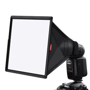 TYCKA 33 x 20cm Flash Diffuseur Softbox (Universel, Pliable) pour Nikon, Canon, Sony, Yongnuo et Autre Reflex numérique