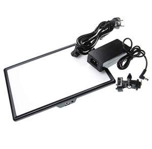vhbw Lampe d'éclairage vidéo Douce 192 LEDs 650 Lux Lampe de Studio pour Appareil Photo (numérique/DSLR), Appareil Photo réflexe, Camcorder, caméras