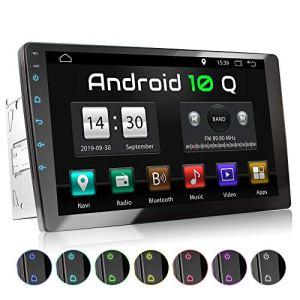 XOMAX XM-2VA901 Autoradio avec Android 10, Quad Core, 2GB RAM, 32GB ROM I Navigation GPS I Support WiFi, WLAN, 3G, 4G, Dab+, OBD2 I Bluetooth I XXL Écran Tactile 9″ I 2X USB I 2 DIN