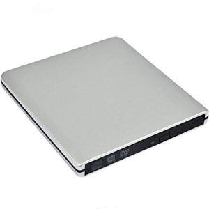 XZYP Lecteur DVD Ultra Externe, Graveur 3.0DVD USB Portable, Mouvement Neutre, Support: WINXP, Win7, WIN8, WIN10, Système Mac,Argent