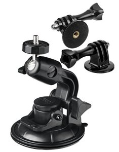 Yayago Support pivotant pour Voiture avec Adaptateur pour caméra d'action Rollei 420