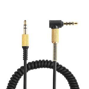 Yizhet Audio Câble de Remplacement pour Marshall Monitor/Major II/Major III avec Microphone et Contrôle du Volume 3,5mm Mâle à Mâle Câble de Casque (1,2m)