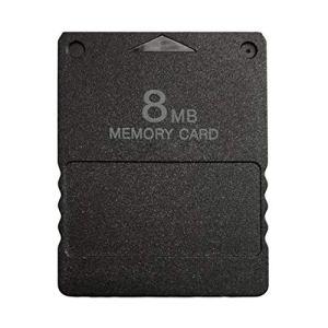 Zinniaya Carte mémoire Design Compact pour PS2 Playstation 2 Noir 8 Mo