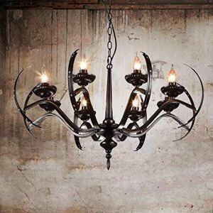 8 têtes de fer Hanglamp Style loft suspension industrielle Vintage LED Pendentif Lumières Accueil Luminaires Cafe Lampara