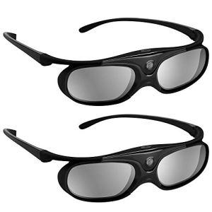 BOBLOV 3D Lunettes Active Shutter DLP-Link USB pour BenQ W1070 W700 Dell 3D Glasses