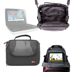 DURAGADGET Support Appui-tête et Housse pour lecteurs DVD Portables NextBase Next 9 Lite Duo & 9 Lite Deluxe, Philips PD7006P/05 et PD7030/12