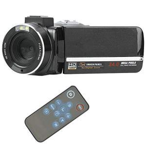 Garsentx Caméra Vidéo Numérique, 4K Full HD 1080P Caméra WiFi Numérique Portable avec 3 Pouces Écran Tactile, Microphone Support 270 Degrés Rotatif 16X Zoom Caméscope pour Youtube Vlogging.