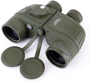 Jumelles Navigation Haute définition Haute définition 10X50 avec télescope extérieur télescope Boussole Basse Vision Nocturne Niveau de lumière zhihao