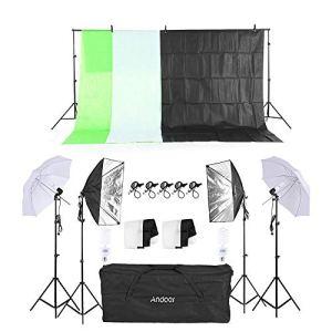 MDFGHJD Photographie Kit d'éclairage Kit Lumière Douce Parapluie Porte-lumière Porte-Ampoule Ampoules Prise de Courant Toiles de Fond Photo Kits de Studio