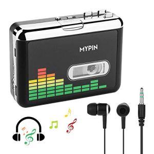 MYPIN Lecteur de Cassette Autonome Audio numérique USB Musique/Cassette vers MP3 Converter avec OTG Enregistrer sur clé USB/Pas de PC requis