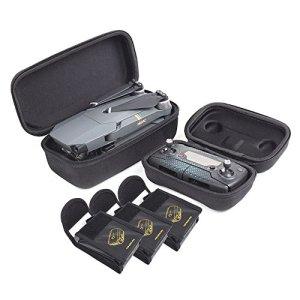 O'woda Combo de Protection Sac: Sac de Corps de Drone + Sac de télécommande Sac + 3pcs LiPo de Batterie Sac pour DJI Mavic Pro/PLATIMUN