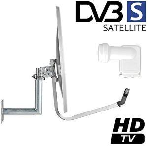 TronicXL Sat Saladier avec LNB Twin pour jusqu'à 2 participants – DVBS2 TV numérique HDTV 3D 4K