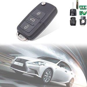 TUINCYN Télécommande d'entrée sans Clé de Voiture de Remplacement Puce Id48434MHz Porte-Clés avec 3Boutons 1K0959753G pour Skoda Volkswagen Seat (Lot de 1)