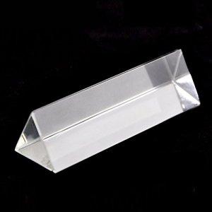 Twilight Cristal en verre optique Prisme triangulaire pour l'enseignement lumière Spectrum Physics, Prism Crystal light, Prism Cristal et photographie A: 5cm