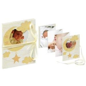 Walther ML-114 Baby Leporello Bambini avec découpe pour la Conception personnelle, Boucle, pour 13 Photos 10 x 15 cm, crème
