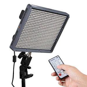 Zhanyiyi Lampe à diode Amaran HR672C Lampe Haute résolution pour Studio 95+ Lampe Photo à LED Lampe lumière à température réglable avec télécommande sans Fil 2,4 GHz, sans Scintillement