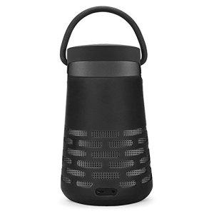 AresKo Étui pour Bose Revolve Plus, Coque Souple Étui en Silicone pour Bose SoundLink Revolve+ Bluetooth Haut-Parleur, Noir