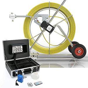BD.Y Caméra D'inspection De Tuyau, Système De Plomberie Vidéo pour Endoscope Industriel 160M avec Moniteur LCD 7 Pouces, Enregistreur CCD DVR 1000TVL (Carte SD De 8 Go Incluse)