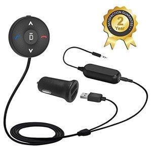 Besign Récepteur Audio Bluetooth 4.1, Voiture Adaptateur Bluetooth, Audio Kit Mains-Libres avec Micro intégré, Sortie AUX 3,5 mm, Clip d'évent d'air et Isolateur de Terre de Bruit