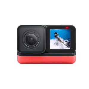 Caméra de Sport 5.7K 360 ° panoramique IPX8 GPS activé étanche Cam Stats Caméra Sport Édition Convient pour Les Adultes et Les Adolescents (Color : Black, Size : One Size)