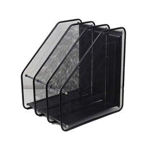 Classé Rack Storage Magazine, Porte décoratif Journal for Les périodiques, Livres ou tablettes – CD Box Cas de Stockage (Size : Three-Tier Design)