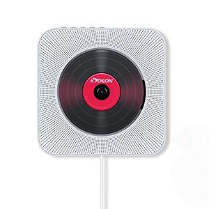 Cloverclover Bluetooth Mp3 Lecteur CD Mural USB Radio FM Lecteur De Musique Télécommande, Blanc