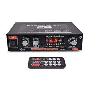 Festnight Amplificateur de Puissance Domestique G30 Mini BT Lecteur Audio numérique Hi-FI Amplificateur Audio Portable stéréo