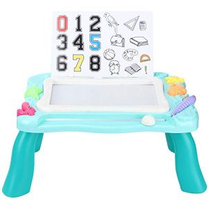 Leyee Détachable Multifonctionnel Pliant Enfants Bricolage Écrit Planche à Dessin Table Bébé Cadeau d'anniversaire Bleu Bébé Enfants Peinture Jouet