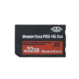 LICHIFIT 64 Go 32 Go 16 Go 8 Go Memory Stick MS Pro Duo Carte mémoire pour Sony PSP High Speed Haute Capacité 32GB