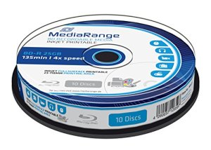 MediaRange MR496 25Go BD-R 10pièce(s) Disque Vierge Blu-Ray – disques Vierges Blu-Ray (4X, Boîte à gâteaux, 10 pièce(s))