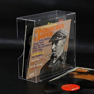 Nai-storage 12 Pouces Disque Vinyle présentoir, Combinaison 2 Sections Acrylique LP Support de Rangement – Lettre Rack Enveloppe Porte-courrier (Color : Clear)