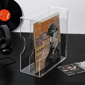 Nai-storage Disque Vinyle Acrylique Support de Rangement, Bureau Support de Rangement Tablette – 12″ et 7″ Recor Acrylique Disque Vinyle Support de Rangement (Color : Clear)