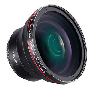Neewer 55mm 0.43x Professional HD Grand Angle avec Macro Partie pour D3400, D5600, Sony A33, A55, A57, A58, A65, A68, A77, A77II, A99, A99II, A390, A58, A100, A900, A850, A700, Appareils Photo Reflex A500
