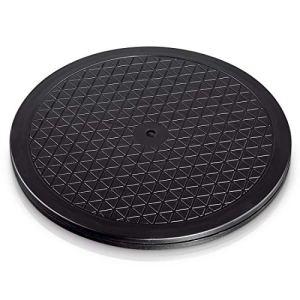 Plateau universel Hama rond (32 cm, taille L, poids supporté 80 kg (idéal pour TV, enceintes, écrans, appareils de cuisine) Noir