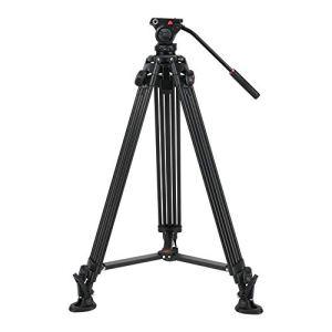 Trépied de caméra, trépied léger en Alliage d'aluminium portatif avec rotule d'amortissement des fluides pour appareils Photo DSLR, idéal pour Les Amoureux de la Photographie